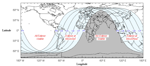 Path of Lunar Eclipse 12/21/2010