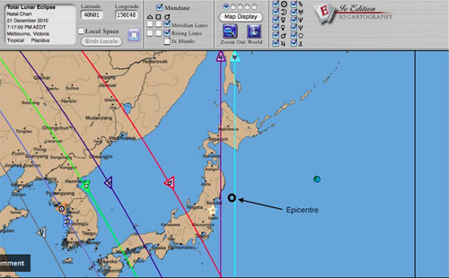 Astro-Carto-Graphy Map Fukushima