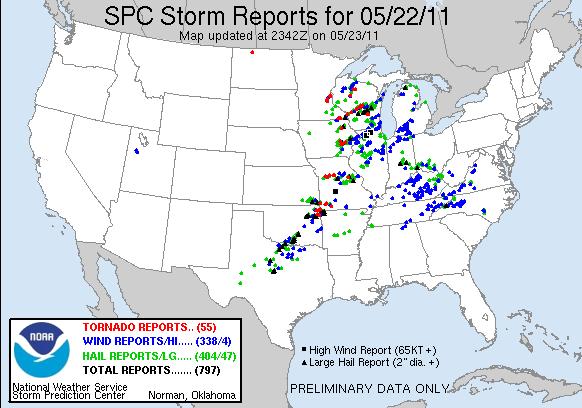 Tornadoes May 22 2011